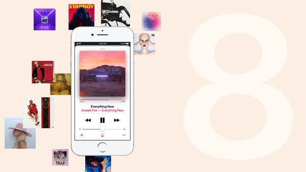 Jouer Apple Music sur iPhone 8