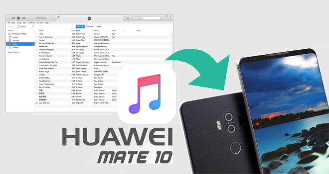 synchroniser musique Apple à Huawei Mate 10/10 Pro