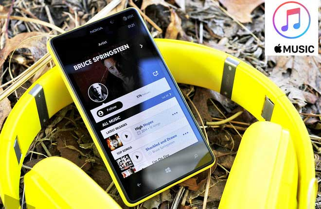 Diffuser apple music dans windows phone