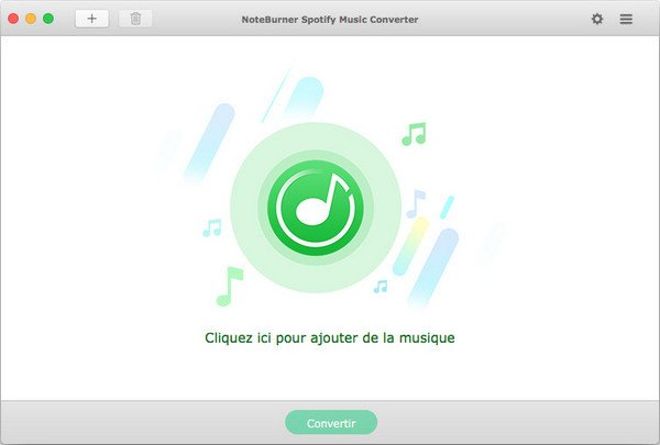 L'interface de NoteBurner Spotify Music Converter pour Mac