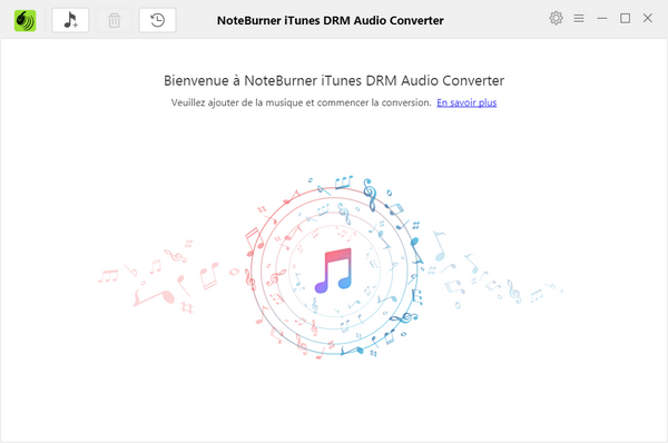 L'interface d'iTunes DRM Audio Converter pour Windows